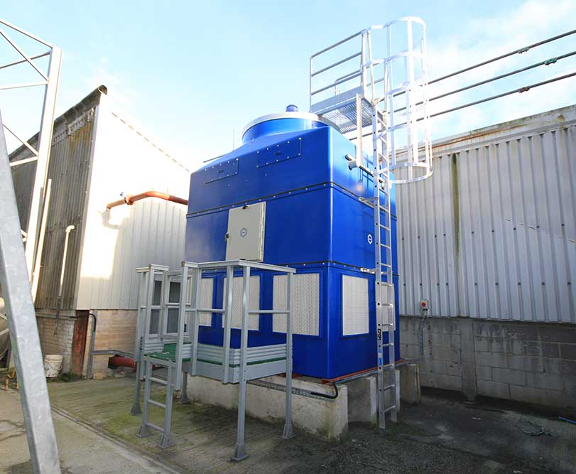 GRP cooling tower with GRP access